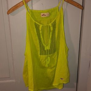 Hollister lime green tank
